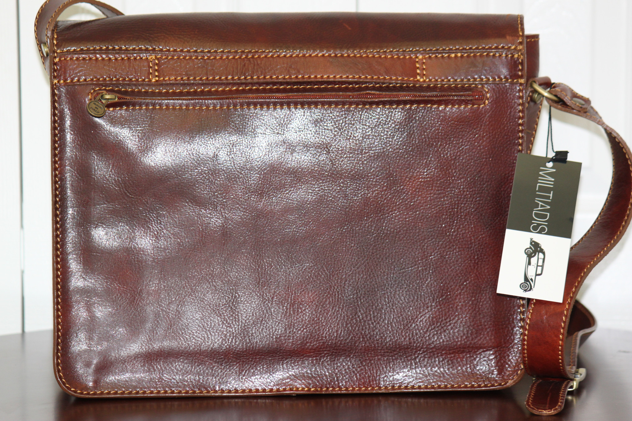 Italian Leather Messenger Bag