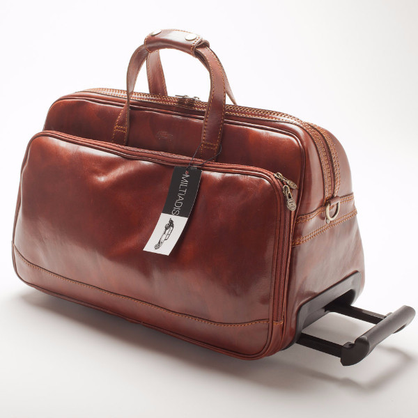 Italian Leather Traveling Bag