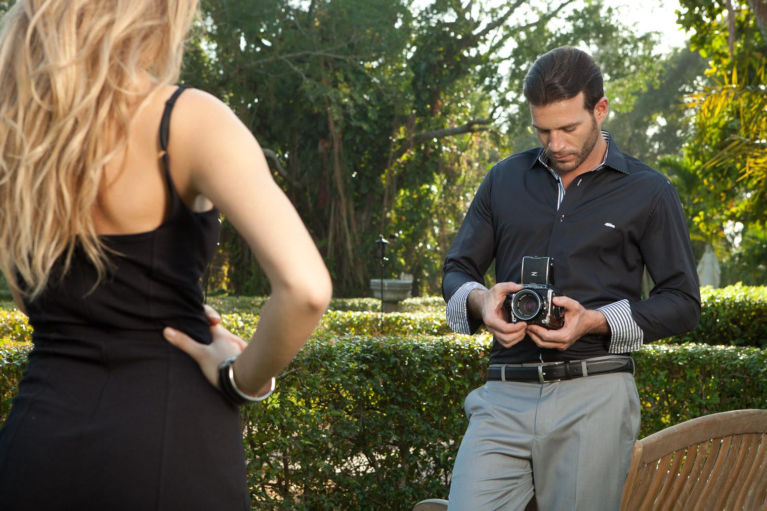 Men's Dress Shirts | Black with Slate Shirt | Miltiadis XIII 17