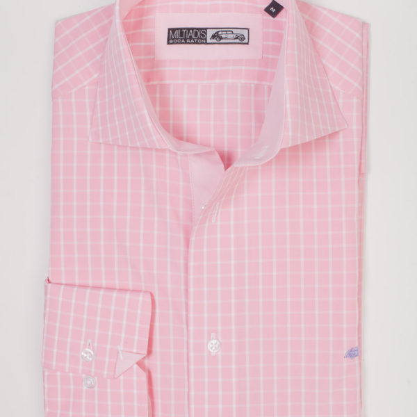 Men's Dress Shirts | Pink Shirt with Light Pink | Miltiadis XIII 11